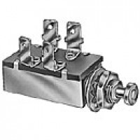 """DPST, NORMALLY ON, 10A@12VDC, 4 BLADES, PLUNGER:15/32"""" LONG, 7/16-20"""" THREAD"""
