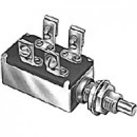 """SCHOOL BUS SWITCH, 2CIRCUIT, 10A@12VDC, 4 SCREWS, FOR 8 LIGHT WARNING SYSTEMS, PLUNGER 23/64"""", 7/16""""-28 THREAD"""