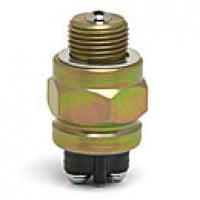 "BALL SWITCH, SPST, NORMALLY ON, 5A@12VDC, 2 SCREWS,  MOUNTING STEM:9/16""-18UNF-2A THREAD"