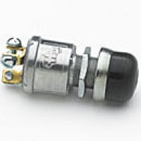 "NORMALLY OFF, 35A@12V, 3 SCREWS, SLIVER CONTACTS, MOUNTING STEM: 5/8""-32 THREAD, 31/32"" LONG, RUBBER CAP, PLASTIC BUTTON"