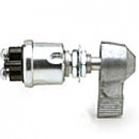 COMPACT IGNITION & START, OFF-ON(IGN), 2 SCREWS, PLATED STEEL, 10A W/LEVER