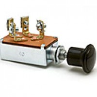 PUSH-PULL IGNITION & START SWITCH, 4 SCREWS, PLATED STEEL