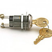 COMPACT IGNITION & START, OFF-ON(IGN), 2 SCREWS, PLATED STEEL, 5A W/TUMBLER LOCK