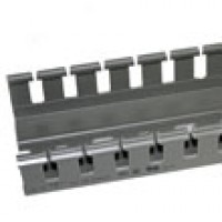 "A6060C is 2-1/4""x 2-1/4"" wire duct gray 6'6""pc with cover"