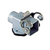 """PANEL MOUNTING BASE, ANGLED - 3 or 4P+Ground, 10A MAX - 250V, SINGLE LEVER, SINGLE PORT, METAL TYPE, GRAY, CABLE GLAND NPT 1/2"""""""