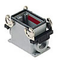 """SURFACE MOUNTING BASE - 10P+Ground, 10A MAX - 600V, DOUBLE LEVERS, SINGLE PORT, CABLE GLAND NPT 1/2"""""""