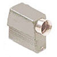 HOOD - 16P+Ground, 10A MAX - 600V, TWO PEGS, SIDE ENTRY, HIGH CONSTRUCTION, CABLE GLAND NPT 1/2""