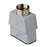 """HOOD - 32P+Ground  10A MAX - 600V  TWO PEGS  TOP ENTRY  HIGH CONSTRUCTION  CABLE GLAND NPT 1/2"""" (CZAVT15.4L)"""