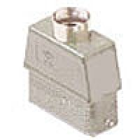 """HOOD - 16P+Ground  10A MAX - 600V  TWO PEGS  TOP ENTRY  HIGH CONSTRUCTION  CABLE GLAND NPT 1/2"""" (CZAVT25.4L)"""