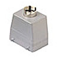 """HOOD - 32P+Ground  10A MAX - 600V  FOUR PEGS  TOP ENTRY  HIGH CONSTRUCTION  CABLE GLAND NPT 1"""" (CAVT50.6)"""