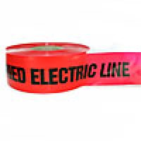 """BURIED LINE TAPE, 3""""x1000' RED, """"CAUTION BURIED HIGH VOLTAGE LINE BELOW"""""""