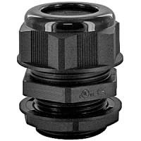 """DOME CAP CABLE GLAND M12  .07-.12""""  BLACK COMPLETE WITH O-RING & LOCKNUT"""