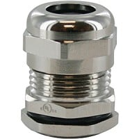"""BRASS DOME CAP CABLE GLAND 1/2"""" NPT  .19-.35""""  COMPLETE WITH O-RING & LOCKNUT"""