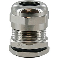 """BRASS DOME CAP CABLE GLAND Pg21  .51-.71""""  COMPLETE WITH O-RING & LOCKNUT"""