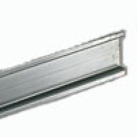 """DIN RAIL, STEEL 35x15MM NON-SLOTTED, 6.6"""" (2 METER) LENGTH"""