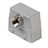HOOD - 16P+Ground  16A MAX - 600V  FOUR PEGS  FRONT ENTRY  HIGH CONSTRUCTION  CABLE GLAND PG 21 (ILME CAF16)