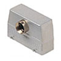 HOOD - 24P+Ground  16A MAX - 600V  FOUR PEGS  FRONT ENTRY  HIGH CONSTRUCTION  CABLE GLAND PG 21 (ILME CAF24.21)