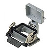 PANEL MOUNTING BASE - 6P+Ground  16A MAX - 600V  SINGLE LEVER AND COVER (ILME CHI06LCS)