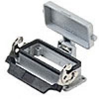 PANEL MOUNTING BASE - 16P+Ground  16A MAX - 600V  SINGLE LEVER AND COVER (ILME CHI16LS)