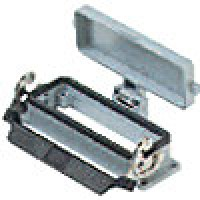 PANEL MOUNTING BASE - 24P+Ground  16A MAX - 600V  SINGLE LEVER AND COVER (ILME CHI24LS)