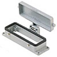 PANEL MOUNTING BASE - 16P+Ground  16A MAX - 600V  FOUR PEGS AND COVER (ILME CHI16CS)