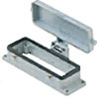 PANEL MOUNTING BASE - 24P+Ground  16A MAX - 600V  FOUR PEGS AND COVER (ILME CHI24CS)
