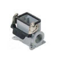 SURFACE MOUNTING BASE - 6P+Ground  16A - 600V  SINGLE LEVER  DOUBLE PORT  HIGH CONSTRUCTION  CABLE GLAND PG 21x2 (ILME CAP06L2)