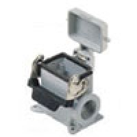 SURFACE MOUNTING BASE - 32P+Ground  16A MAX - 600V  SINGLE LEVER & COVER  DOUBLE PORT  CABLE GLAND PG 42x2 (ILME CHP32LS242)