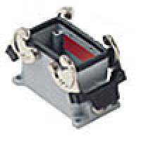 SURFACE MOUNTING BASE - 10P+Ground  16A MAX - 600V  DOUBLE LEVERS  DOUBLE PORT  CABLE GLAND PG 16x2 (ILME CHP10.2)