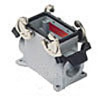 SURFACE MOUNTING BASE - 10P+Ground  16A MAX - 600V  DOUBLE LEVERS  DOUBLE PORT  HIGH CONSTRUCTION  CABLE GLAND PG 21x2 (ILME CAP10.221)