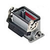 SURFACE MOUNTING BASE - 10P+Ground  16A MAX - 600V  SINGLE LEVER  DOUBLE PORT  CABLE GLAND PG 16x2 (ILME CHP10L2)