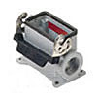 SURFACE MOUNTING BASE - 10P+Ground  16A MAX - 600V  SINGLE LEVER  DOUBLE PORT  HIGH CONSTRUCTION  CABLE GLAND PG 29x2 (ILME CAP10L229)