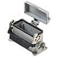 SURFACE MOUNTING BASE - 16P+Ground  16A MAX - 600V  SINGLE LEVER & COVER  SINGLE PORT  CABLE GLAND PG 21 (ILME CHP16LS)