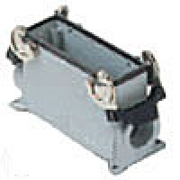 """SURFACE MOUNTING BASE - 24P+Ground  16A MAX - 600V  DOUBLE LEVERS  SINGLE PORT  HIGH CONSTRUCTION  CABLE GLAND NPT 1.25"""""""