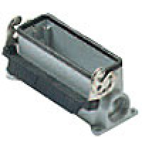 SURFACE MOUNTING BASE - 24P+Ground  16A MAX - 600V  SINGLE LEVER  SINGLE PORT  CABLE GLAND PG 21 (ILME CHP24L)