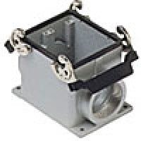SURFACE MOUNTING BASE - 32P+Ground  16A MAX - 600V  DOUBLE LEVERS  DOUBLE PORT  CABLE GLAND PG 42x2 (ILME CHP32.242)