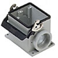 SURFACE MOUNTING BASE - 32P+Ground  16A MAX - 600V  SINGLE LEVER  DOUBLE PORT  CABLE GLAND PG 29x2 (ILME CHP32L229)