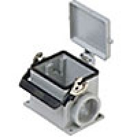 SURFACE MOUNTING BASE - 32P+Ground  16A MAX - 600V  SINGLE LEVER & COVER  SINGLE PORT  CABLE GLAND PG 36 (ILME CHP32LS)