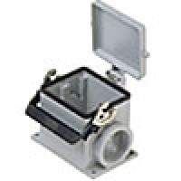 SURFACE MOUNTING BASE - 32P+Ground  16A MAX - 600V  SINGLE LEVER & COVER  SINGLE PORT  CABLE GLAND PG 42 (ILME CHP32LS42)