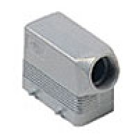 """HOOD - 10P+Ground  16A MAX - 600V  FOUR PEGS  SIDE ENTRY  CABLE GLAND NPT 1/2"""" (ILME CHOT10.4)"""