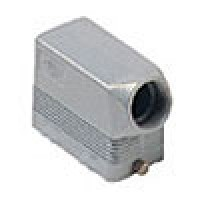 """HOOD - 10P+Ground  16A MAX - 600V  TWO PEGS  SIDE ENTRY  CABLE GLAND NPT 1/2"""" (ILME CHOT10.4L)"""