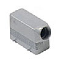 """HOOD - 16P+Ground  16A MAX - 600V  FOUR PEGS  SIDE ENTRY  CABLE GLAND NPT 1/2"""" (ILME CHOT16.4)"""