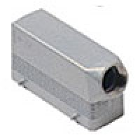 """HOOD - 24P+Ground  16A MAX - 600V  FOUR PEGS  SIDE ENTRY  CABLE GLAND NPT 3/4"""" (ILME CHOT24.5)"""