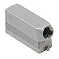 HOOD - 24P+Ground  16A MAX - 600V  TWO PEGS  SIDE ENTRY  CABLE GLAND PG 21 (ILME CHO24L)