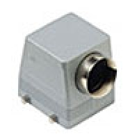 """HOOD - 32P+Ground  16A MAX - 600V  FOUR PEGS  SIDE ENTRY  CABLE GLAND NPT 1.25"""" (ILME CHOT32.7)"""
