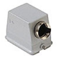 """HOOD - 48P+Ground  16A MAX - 600V  TWO PEGS  SIDE ENTRY  CABLE GLAND NPT 1"""""""