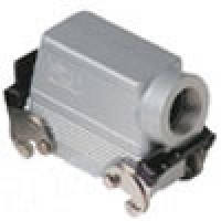 """HOOD - 16P+Ground  16A MAX - 600V  DOUBLE LEVERS  SIDE ENTRY  HIGH CONSTRUCTION  CABLE GLAND NPT 3/4"""""""