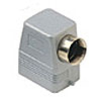 """HOOD - 6P+Ground  16A - 600V  TWO PEGS  SIDE ENTRY  HIGH CONSTRUCTION  CABLE GLAND NPT 1"""" (ILME CAOT06.6L)"""