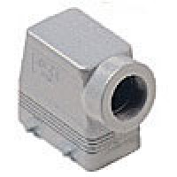 """HOOD - 10P+Ground  16A MAX - 600V  FOUR PEGS  SIDE ENTRY  HIGH CONSTRUCTION  CABLE GLAND NPT 1"""" (ILME CAOT10.6)"""