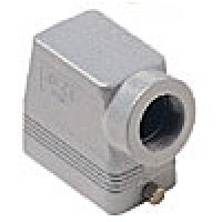 """HOOD - 10P+Ground  16A MAX - 600V  TWO PEGS  SIDE ENTRY  HIGH CONSTRUCTION  CABLE GLAND NPT 1"""" (ILME CAOT10.6L)"""